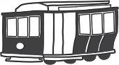 sketch of San Francisco cable car