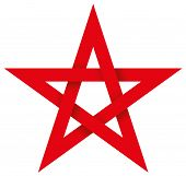 picture of pentacle  - Five - JPG