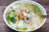 Rice Porridge With Pork.