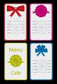 Templates designs for menu cafe or restaurant