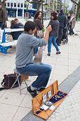 San-sebastian. Musician On The Street