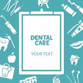 Medical clipboard with dental care text