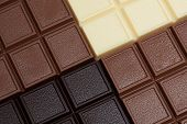 Close-up of delicious chocolate bars