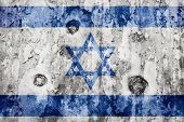 Israel Flag On A Weathered Grunge Background