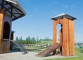 Public Wooden Playground