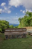Virgin Islands National Park Sign