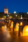 picture of anjou  - Cityscape of Angers at a dark night - JPG