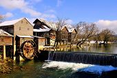 stock photo of smoky mountain  - The Old Mill in Pigeon Forge - JPG