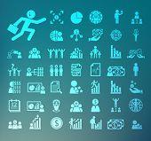 Human Resource Icons  Retina Vector Set