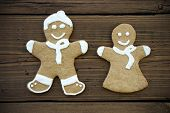 picture of ginger bread  - Decorated Ginger Bread Couple Symbolizing Love Happiness and Relationship