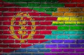image of eritrea  - Dark brick wall texture  - JPG