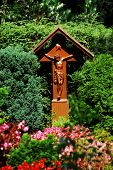 Wood Cross with Crucified