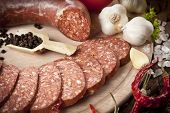 Sausage (Turkish Sucuk ) concept photo