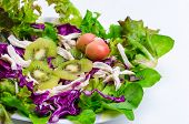 Mediterranean-style Salad With Kiwifruit And Olives