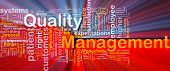 Quality Management Background Concept Glowing