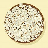 Bowl of popcorn vector