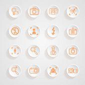 Camera Icons And Menu Camera Icons Icons Button Shadows  Vector Set