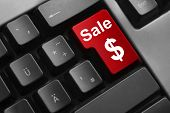 Keyboard Red Button Sale Dollar Symbol