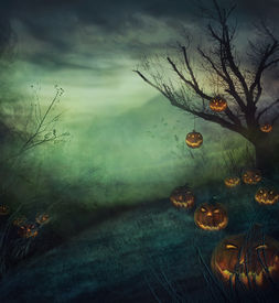 foto of evil  - Halloween design  - JPG