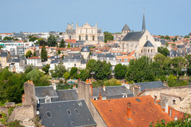 image of poitiers  - Cityscape of Poitiers at a summer day - JPG