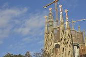Sagrada Familia Temple In Barcelona