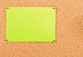 Corkboard With Sheet Of Paper.