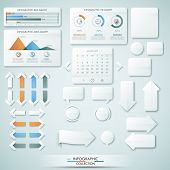 foto of graph paper  - Big collection of different infographic elements - JPG