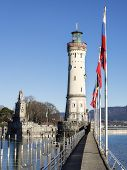 Lighthouse Constance And Flags