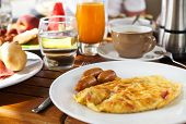 Tasty Breakfast In The Morning With Omelet