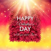 ������, ������: Colorful Happy Valentines Day vector card design