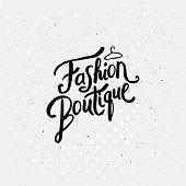 stock photo of boutique  - Artistic Black Lettering Design for Fashion Boutique Concept - JPG