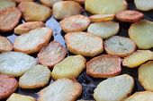Fried potatoes.