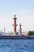 Rostral column and Saint-Petersburg exchange