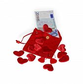Red Purse With Twenty Euro Banknote