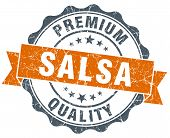 Salsa Vintage Orange Seal Isolated On White