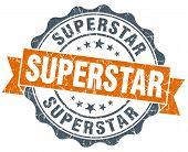 pic of superstars  - superstar vintage orange seal isolated on white - JPG