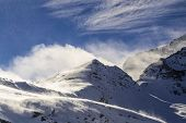 stock photo of italian alps  - Mountains in the wind - JPG