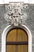 Head Of Neptune In The Decoration Of The House In Riga