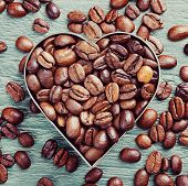Постер, плакат: Coffee Beans Background
