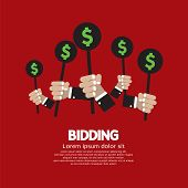 Bidding Or Auction Concept.