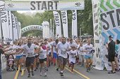 Enthusiastic Racers Start The Color Run