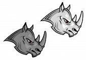 Cartoon rhino mascots