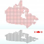 Map Of Canada With With Dot Pattern