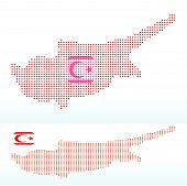 Map Of Turkish Republic Of North Cyprus With With Dot Pattern