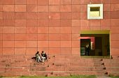 Jaipur, India - January 31, 2014: Indian People Visit Jawahar Kala Kendra