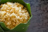 stock photo of rice  - GA BA rice or Germinated brown rice  are high quality rice - JPG