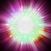 stock photo of aura  - star light aura explosion - JPG