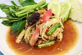 stock photo of green papaya salad  - green papaya salad  - JPG