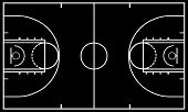 pic of basketball  - Illustration of basketball court with black in background - JPG