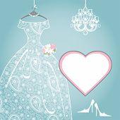Wedding bridal dress.Paisley lace,chandelier,label
